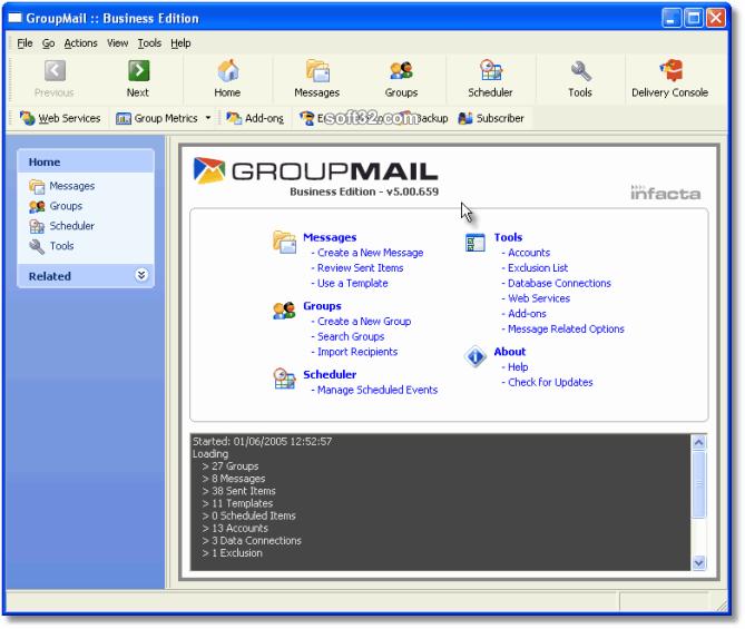 GroupMail :: Free Edition Screenshot 2