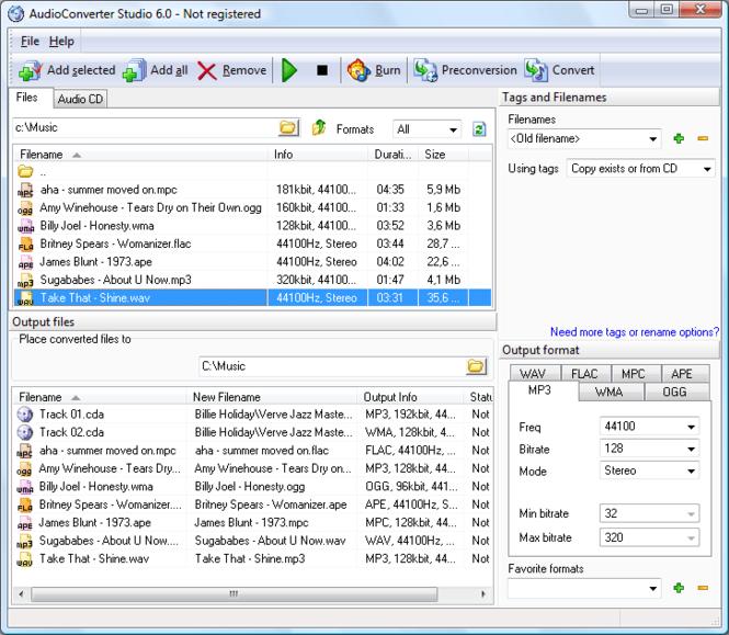 AudioConverter Studio Screenshot 1