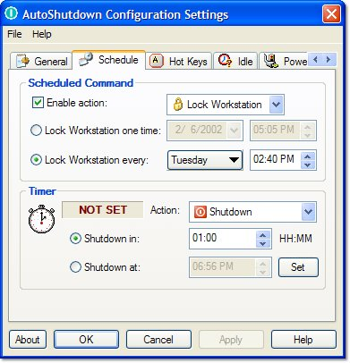 AutoShutdown Screenshot