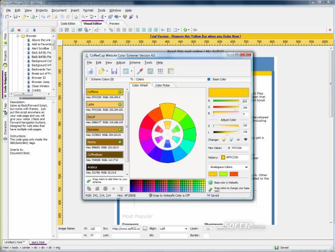 CoffeeCup HTML Editor Screenshot 4