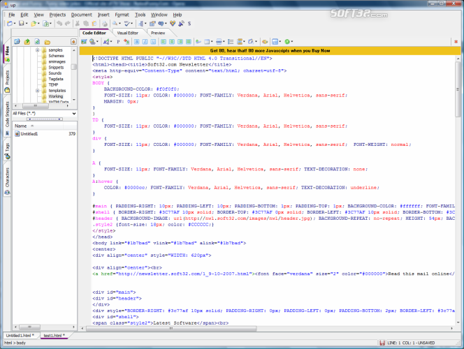 CoffeeCup HTML Editor Screenshot 5