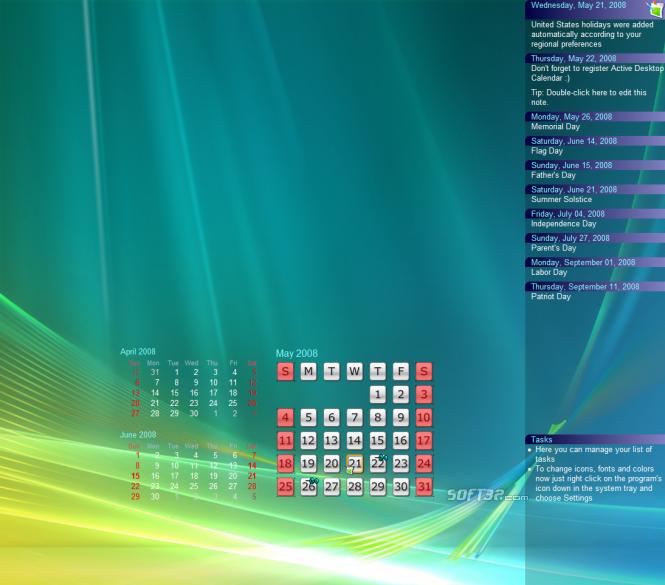 Active Desktop Calendar Screenshot 3