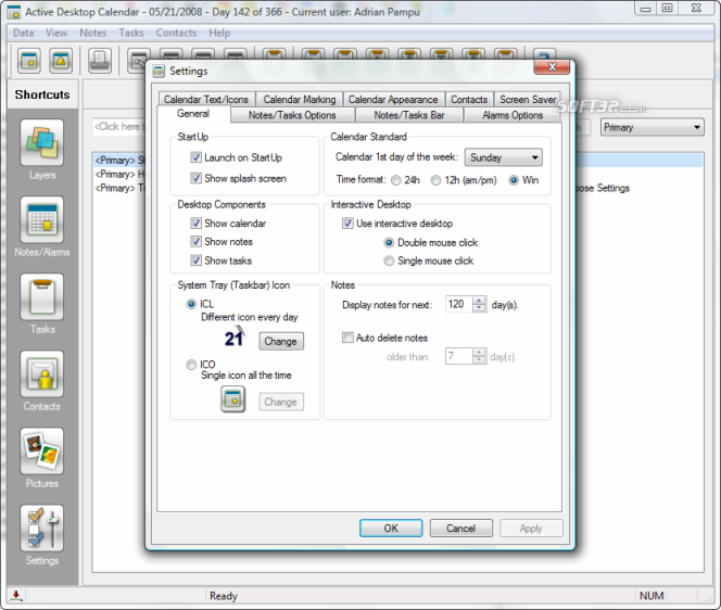 Active Desktop Calendar Screenshot 2