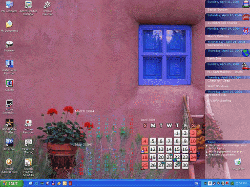 Active Desktop Calendar Screenshot