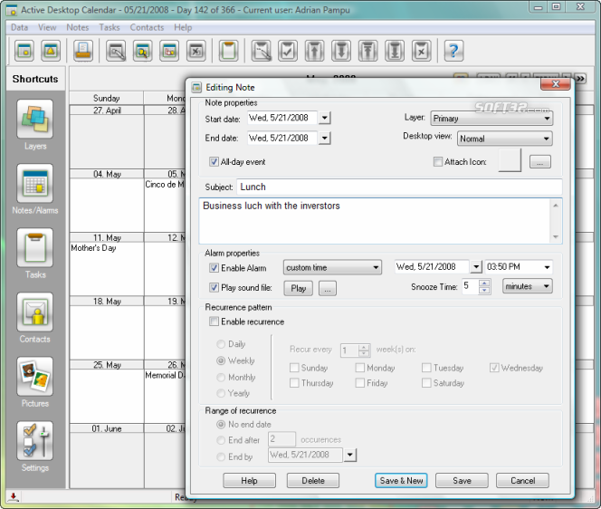 Active Desktop Calendar Screenshot 7