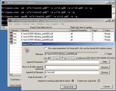 PDF U Append Batch Screenshot 2