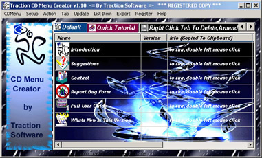Traction CD Menu Creator Screenshot 1