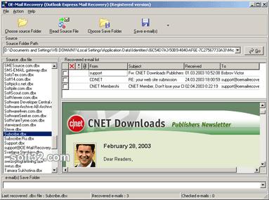 OE-Mail Recovery Screenshot 2