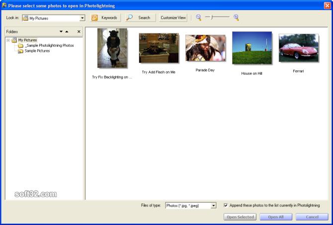 Photolightning photo software Screenshot 3