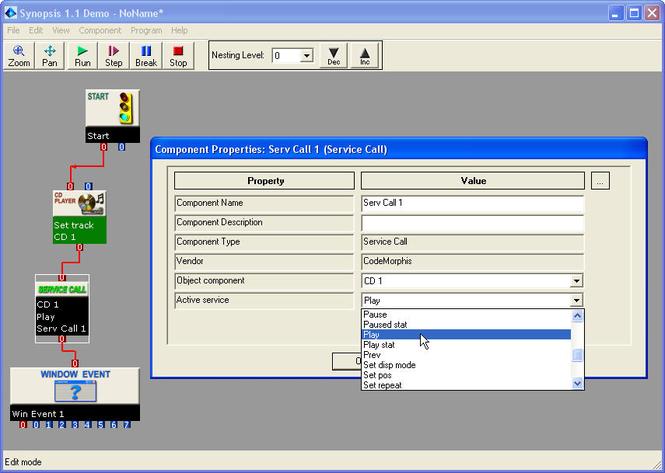 Synopsis - Visual Programming Tool Screenshot