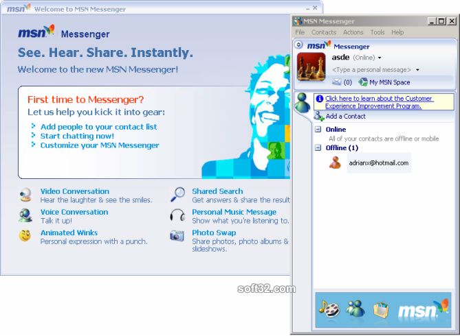 MSN Messenger Screenshot
