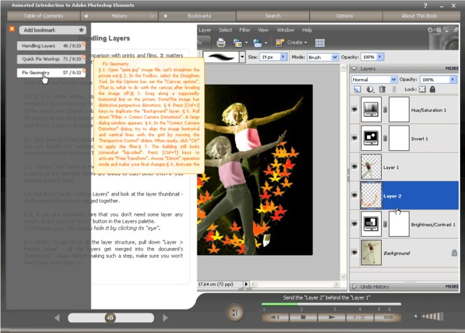 Animated Intro to Photoshop Elements Screenshot