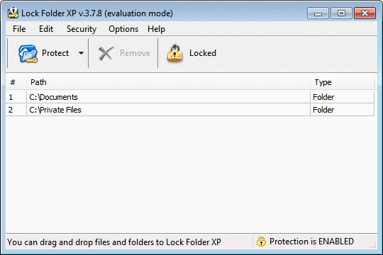 Lock Folder XP Screenshot 1