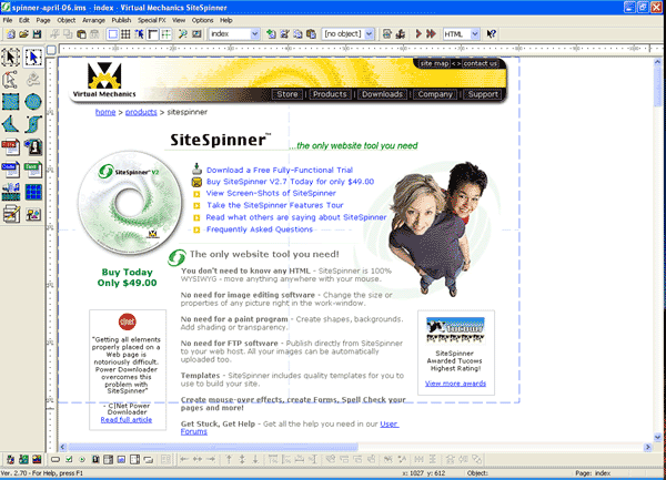 SiteSpinner Screenshot