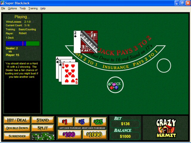 Super BlackJack Screenshot 1