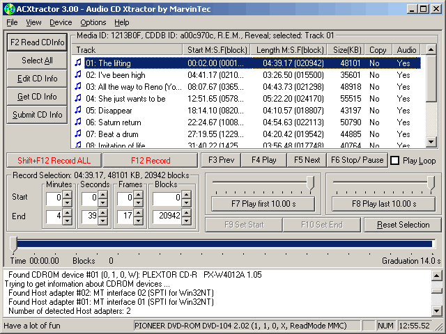ACXtractor Screenshot