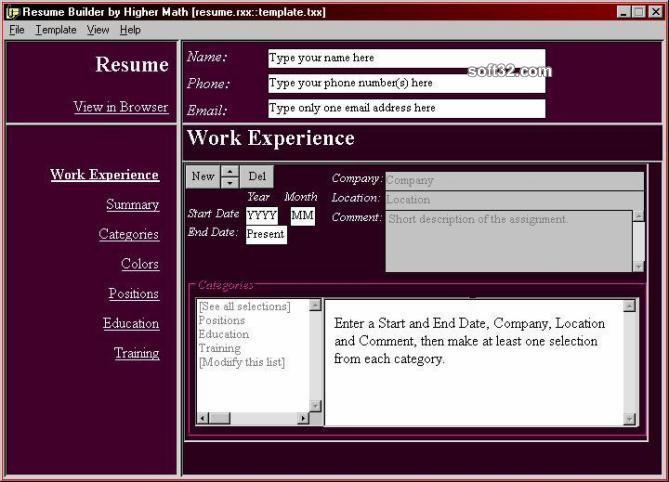 Interactive Resume Builder Screenshot 3