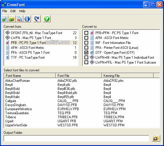 CrossFont Screenshot 3