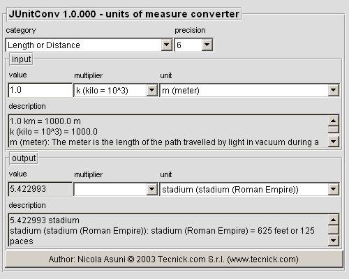 JUnitConv - Units Of Measure Converter Screenshot