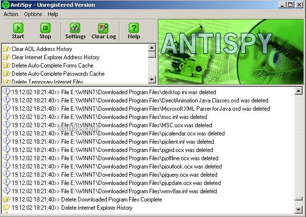 AntiSpy Pro Screenshot