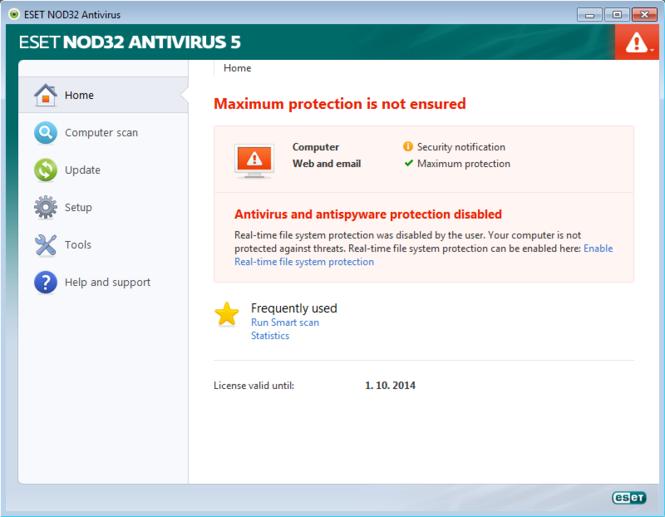 ESET NOD32 Antivirus Screenshot 3