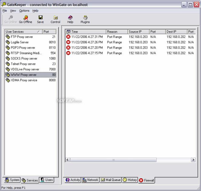 WinGate Screenshot 4