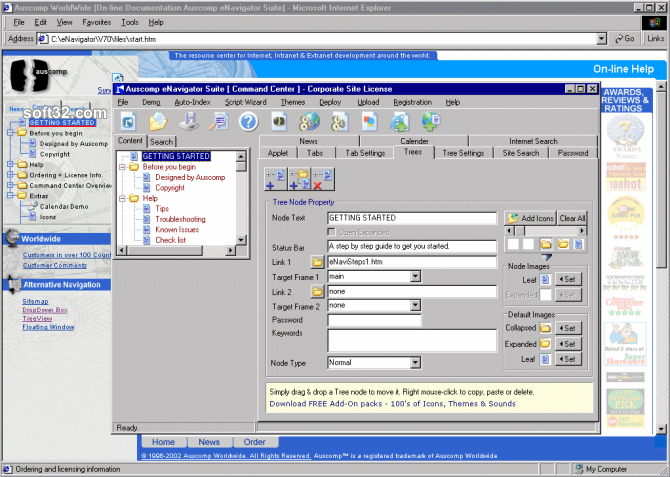 Auscomp eNavigator Suite Screenshot