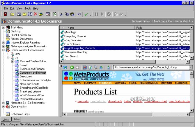 Links Organizer Screenshot 2