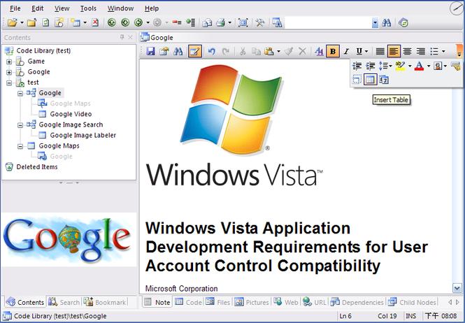 Code Library .NET 2.0 Screenshot