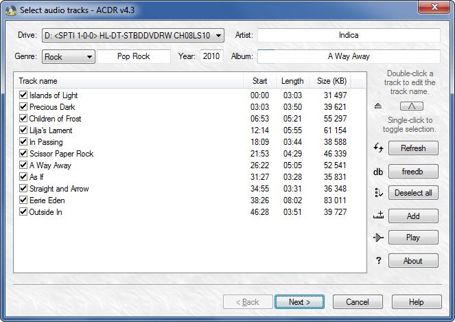 ACDR Screenshot