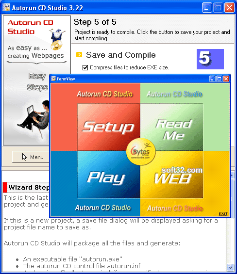Autorun CD Studio Screenshot 2