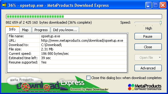 Download Express Screenshot