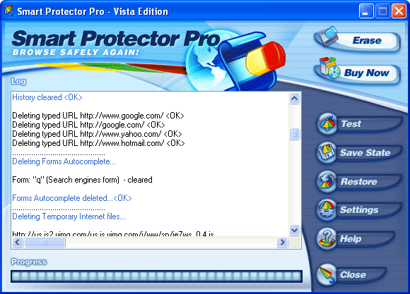 1 Smart Protector Pro - Internet Eraser Screenshot