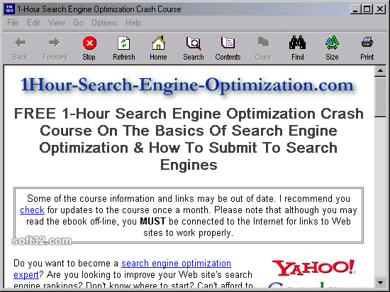 1-Hour Search Engine Optimization Crash Course Screenshot