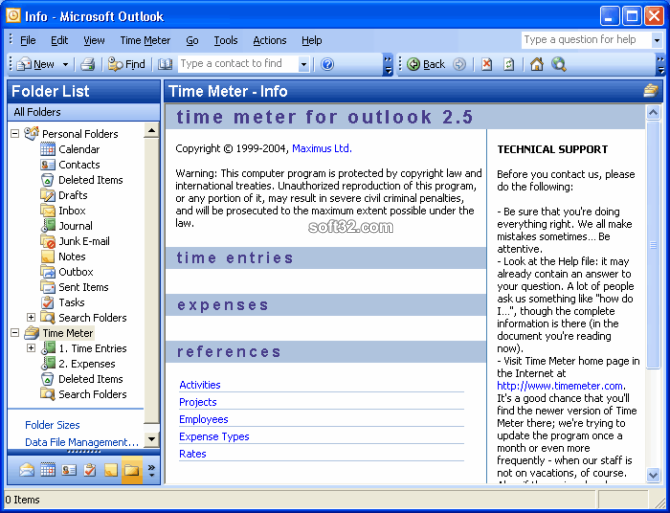 Time Meter for Microsoft Outlook Screenshot 3