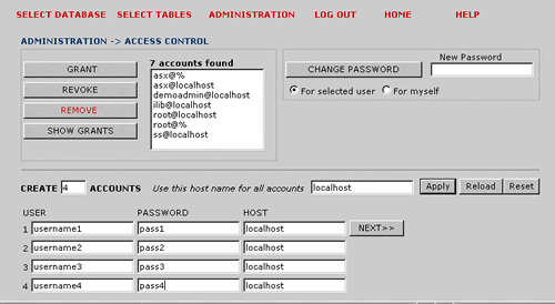 Mysql Data Manager Screenshot 3