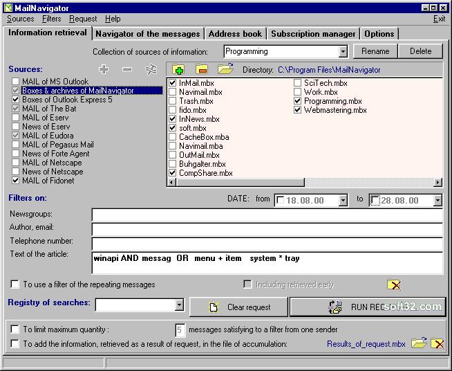 MailNavigator Screenshot 2
