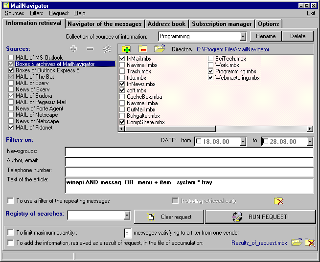 MailNavigator Screenshot
