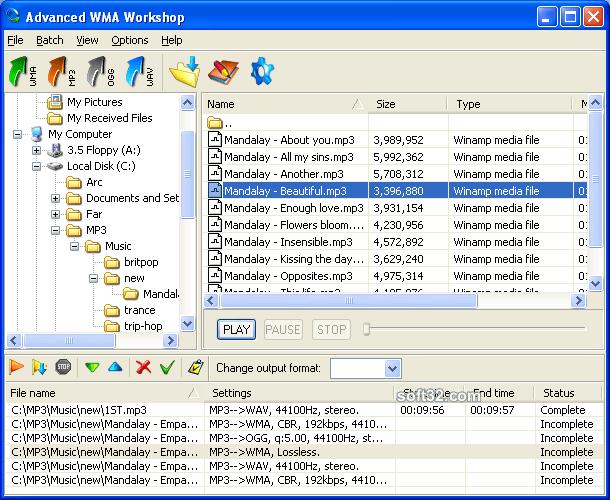 Advanced WMA Workshop Screenshot 2