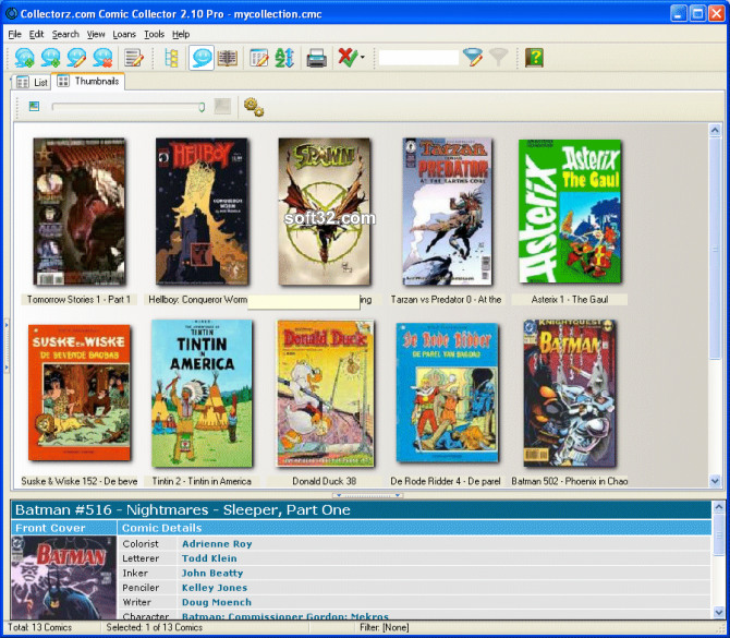 Collectorz.com Comic Collector Screenshot 2