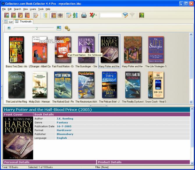 Collectorz.com Book Collector Screenshot 2