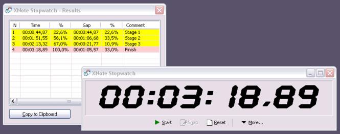 XNote Stopwatch Screenshot 1