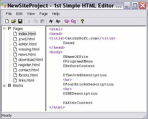 1st Simple HTML Editor Screenshot 1