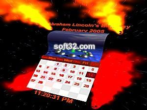 3D Calendar Clock Screenshot 1