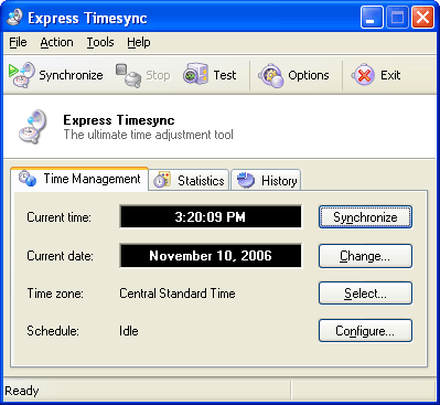 Express Timesync Screenshot