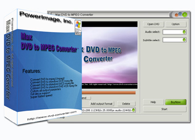 Max DVD to MPEG Converter Screenshot 1