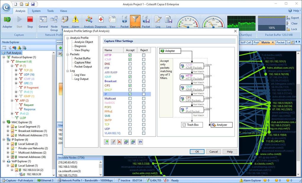 Capsa Network Analyzer Screenshot 8