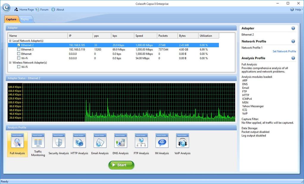 Capsa Network Analyzer Screenshot 5