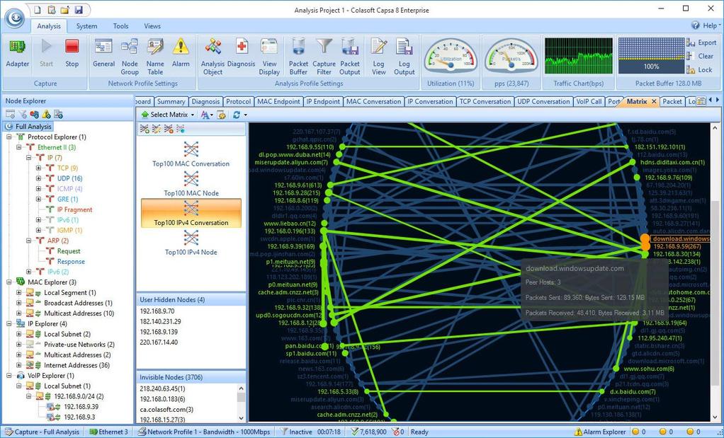 Capsa Network Analyzer Screenshot 7