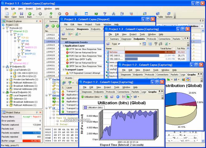 Capsa Network Analyzer Screenshot 2
